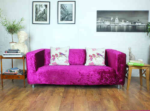Superb Pink Decadence Velvet Klippan Sofa Cover