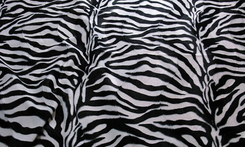 Ikea Lycksele Sofa Bed Slip Cover in Zebra Print Faux Fur